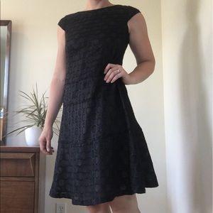 Anne Klein black polka dot dress